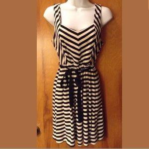Really Cute Forever 21 White & Black Striped Dress